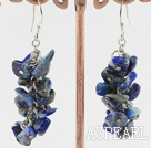 Wholesale lapis chips earrings