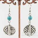 Wholesale turquoise and tibet sivler earrings