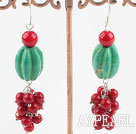 Wholesale turquoise and coral earrings