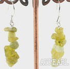 Wholesale Olive stone earrings