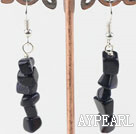 Fashion Irregular Layered Blue Sandstone Dangle Earrings With Fish Hook