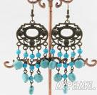 Wholesale chandelier shape turquoise earrings
