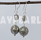 Simple Style Melon Shape Tibet Silver Dangle Earrings With Fish Hook