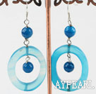 Wholesale blue agate earrings