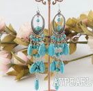 Wholesale burst pattern turquoise earrings