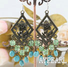 Wholesale turquoise and crystal  earrings