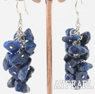 Fashion Cluster Style Lapis Stone Dangle Earrings With Wish Hook