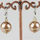 Wholesale 12mm gold color acrylic pearl earrings
