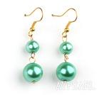 Wholesale 8-12mm green acrylic pearl earrings