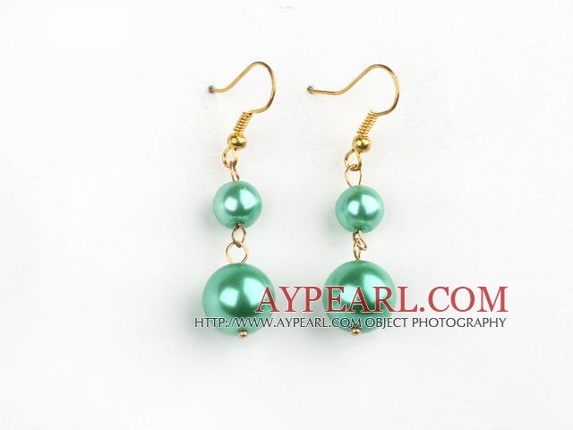 8-12mm green acrylic pearl earrings