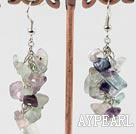 Wholesale rainbow flourite earrings