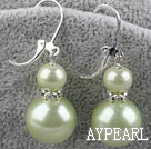 8-14mm light lemon acrylic pearl earrings