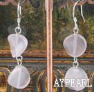 Wholesale rose quartze earrings