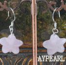 Wholesale starfish rose quartze earrings