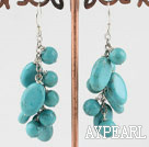 Wholesale burst pattern turquoise earrings