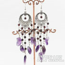 amethyst garnet earrings