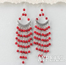 chandelier shape  bloodstone earring