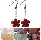 Wholesale austrian pink crystal colored glaze earrings
