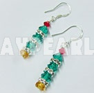 Xmas tree lovely crystal earrings