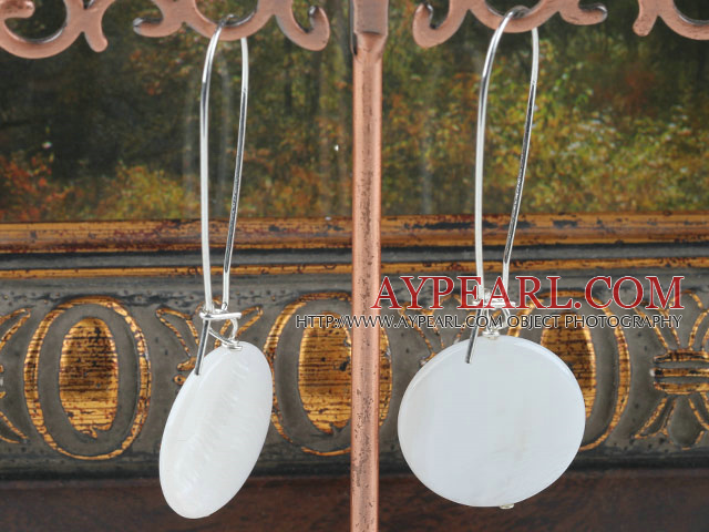 white butterfly shell earring