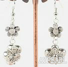 Lovely Plum Blossom Shape Ccb Silver Like Engraved Charm Earrings