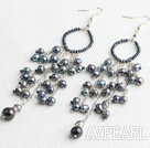 Wholesale black pearl earrings
