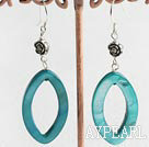 Wholesale Lovely Donut Shape Green Shell Dangle Earrings With Fish Hook