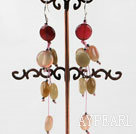 Wholesale 3-color jade earrings