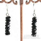 Wholesale black crystal earring