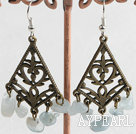 Wholesale Lovely Vintage Style Aquamarine Chips Chandelier Earring With Fish Hook