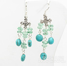 crystal turquoise earring