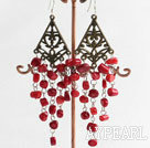 Wholesale red coral earring