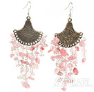 Wholesale popular cherry quartze earrings