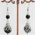 Wholesale Black agate earring