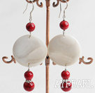 Wholesale blood stone shell earrings