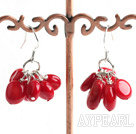 lovely coral earrings