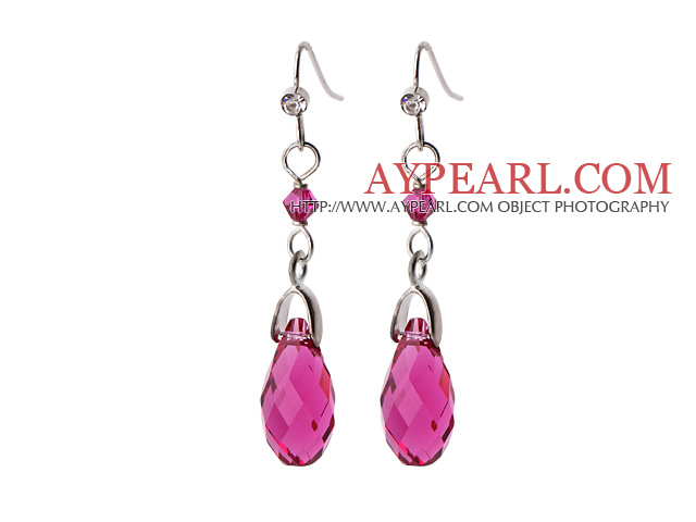 Lovely 12Mm Round Pink Shell Beads And Teardrop Metal Charm Earrings With Fish Hook