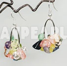 Wholesale multi color stone earrings