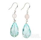 Wholesale switzerland blue crystal rose quartze earrings