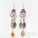 Wholesale New Design Dangle Style Crystal Long Earrings