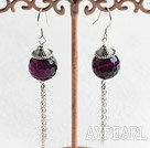 long style faceted agate earrings