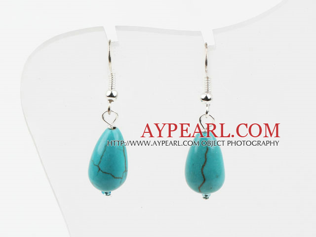 tear drop turquose earrings