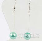 Wholesale dangling style drop shape black crystal earrings