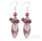 Wholesale dyed pearl shell earrings