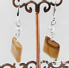 square shape vitelline stone earrings