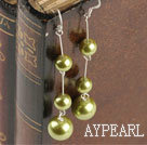 Wholesale dangling light yellow acrylic ball earrings