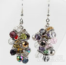 New Design Multi Color Multi Crystal Cluster Earrings