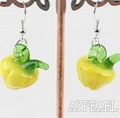Wholesale Lovely Style Yellow Colored Glaze Vegetalbe Earrings