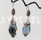 elegant tear drop earrings with rhinestone
