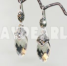 elegant tear drop earrings with rhinestone